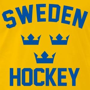 sweden team hockey men s premium t shirt